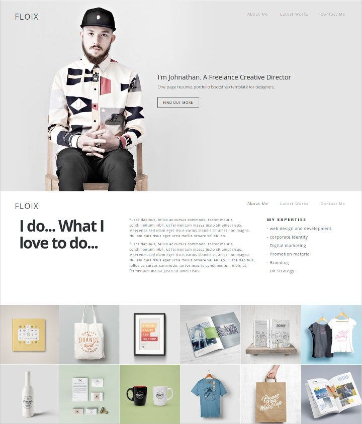 bootstrap resume template1