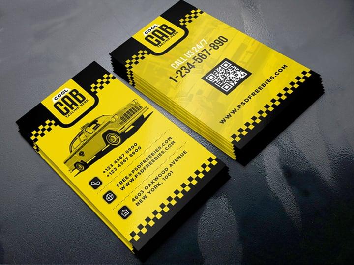 cab service business card