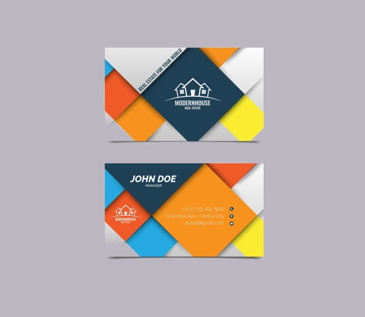 business-card-with-colored-squares