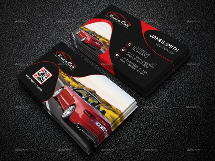 rent-a-car-business-card