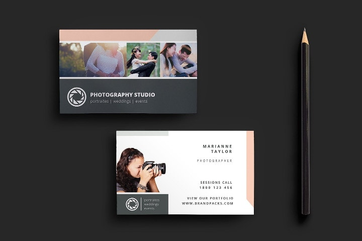 20 best business card templates of 2017 free premium for Wedding photography business cards