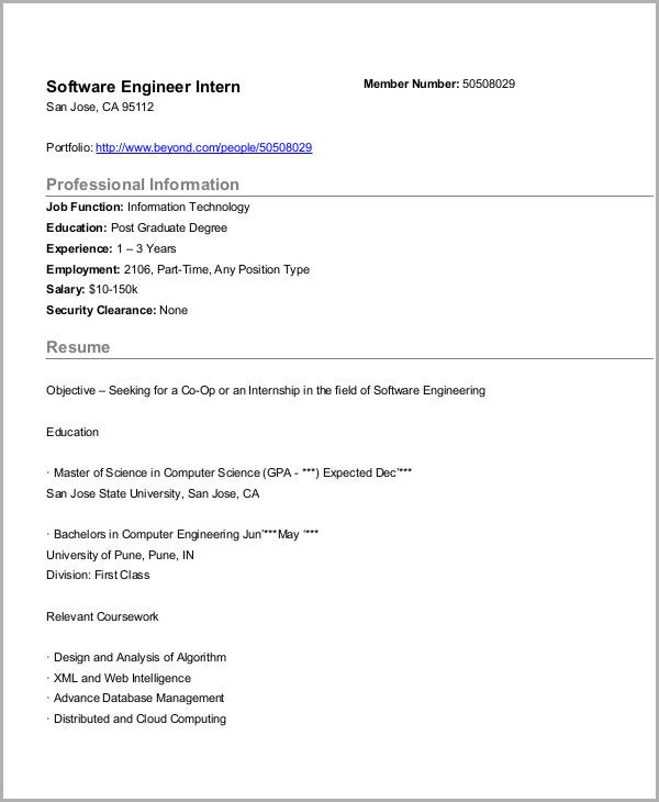 Software Engineering Internship. Beyond.com. Details. File Format. PDF