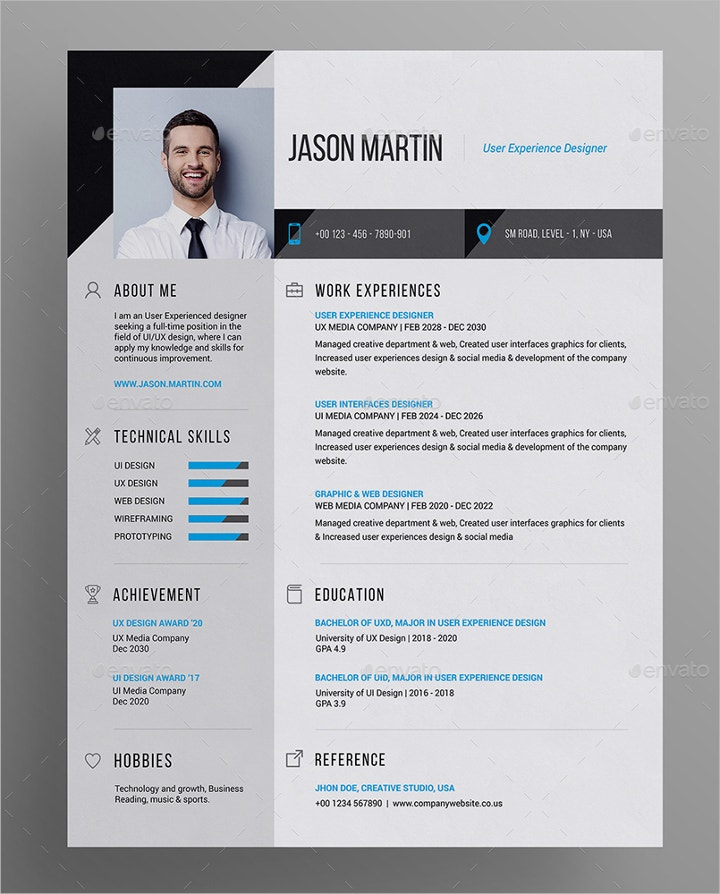 41 resume templates examples professional modern free premium templates. Black Bedroom Furniture Sets. Home Design Ideas