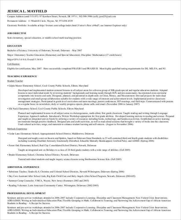 Modern Teacher Resume Templates  Pdf Doc  Free  Premium
