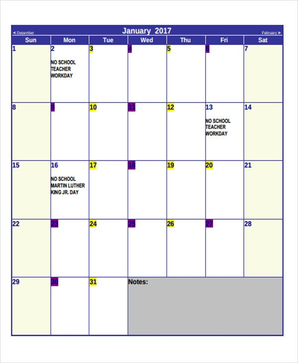 blank printable monthly calendar