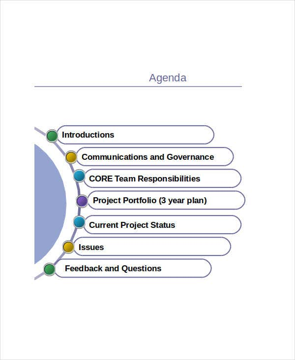 Project Agenda Template In Ppt