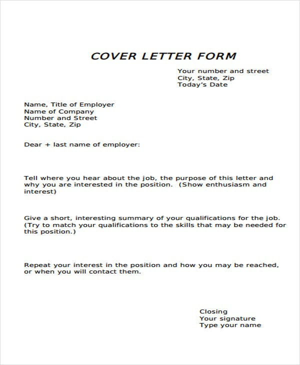 cover letter form template in pdf