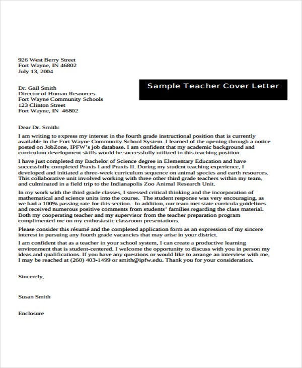 teaching experience letter in pdf