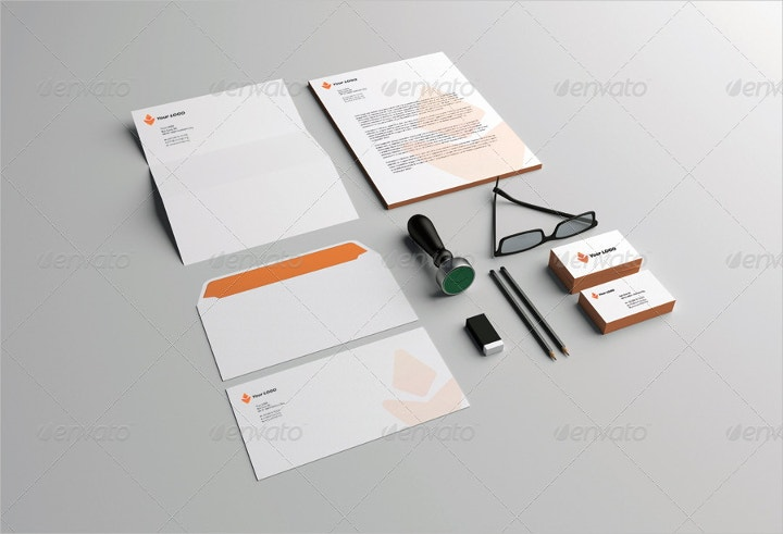 photo realistic corporate identity mockup