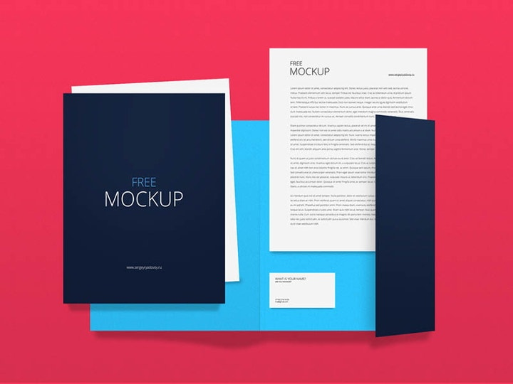 colorful corporate identity mockup
