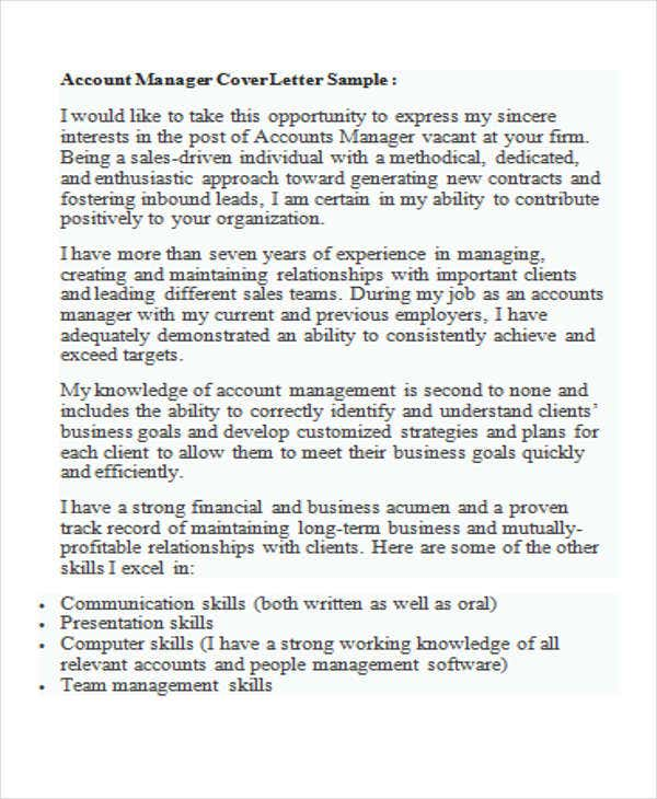 accounting manager coverletterus - Accounting Cover Letter