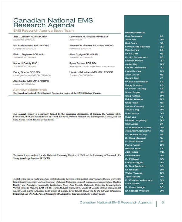 Research Agenda Templates 12 Free Word PDF Format Download – Research Agenda Sample