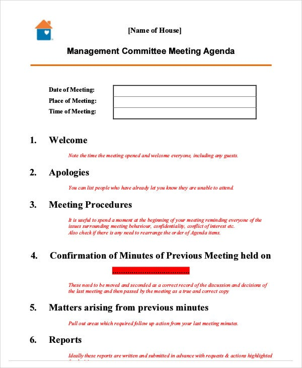 management meeting agenda2