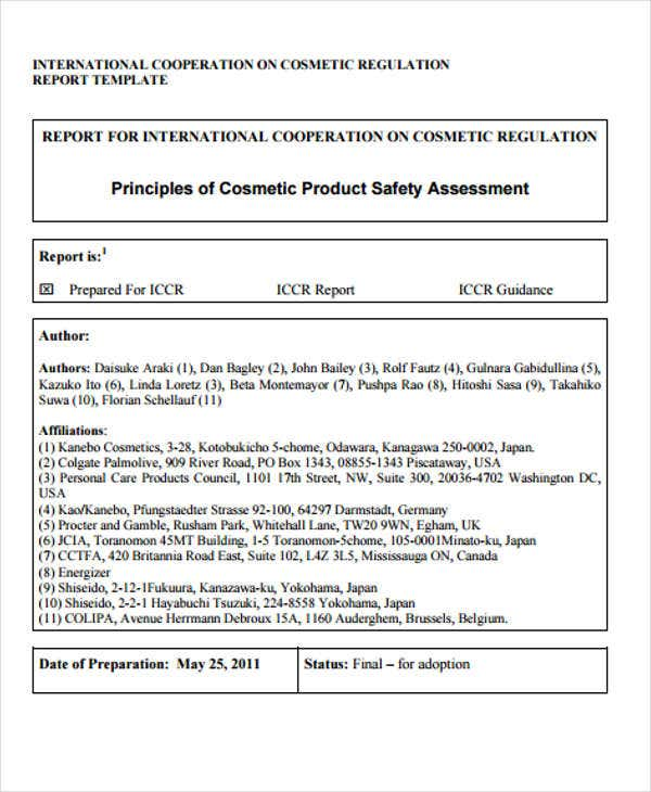 Safety Report Templates - 10+ Free Sample, Example Format Download