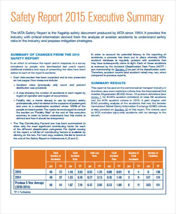 safety report templates