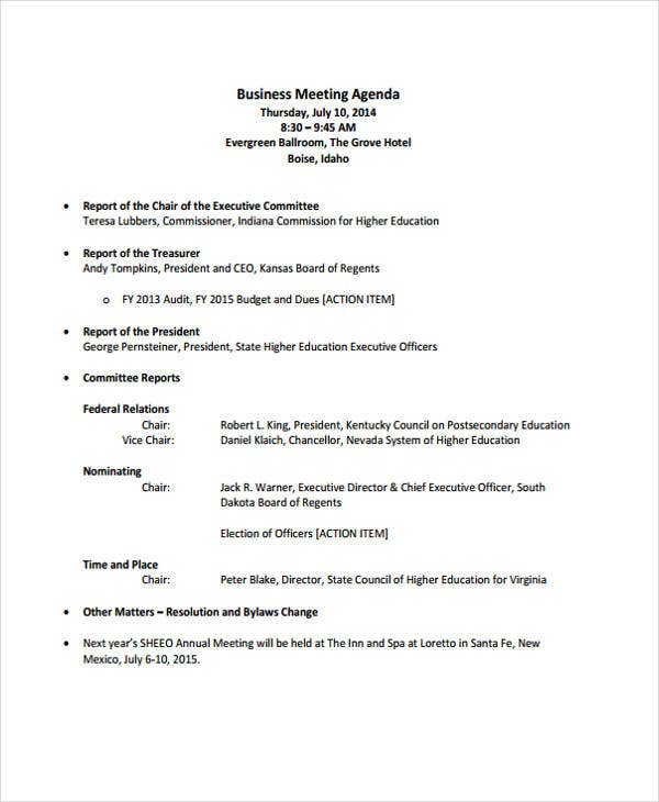 formal business meeting agenda4