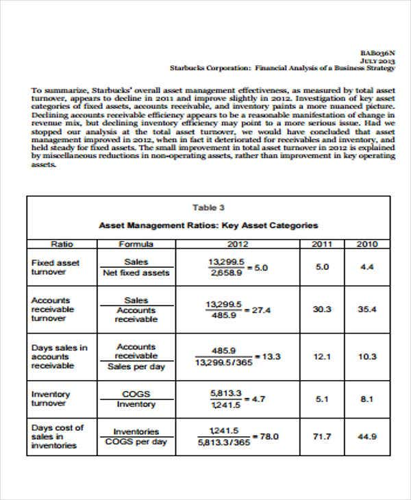 Company Financial Analysis Report