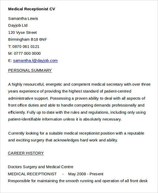 medical receptionist1