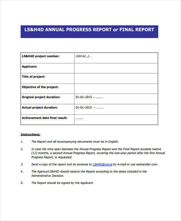 12 progress report templates free sample example format download
