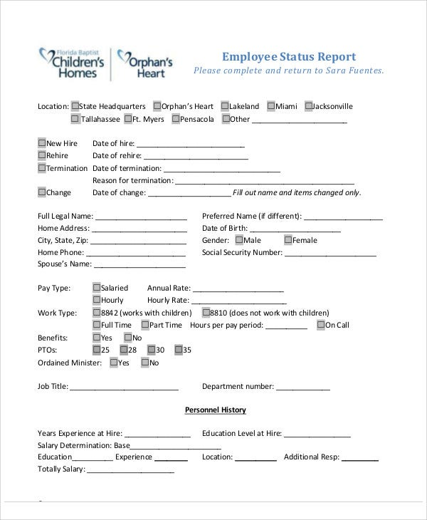 employee report templates 23 free sample example format download