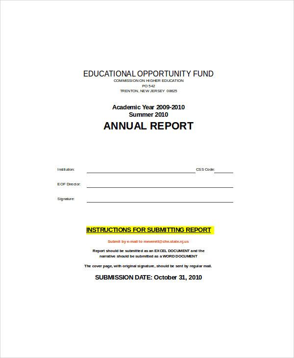 academic annual report