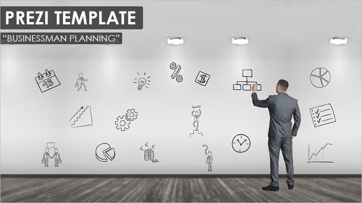 15 perfect prezi templates for outstanding presentations free businessman planning prezi template cheaphphosting Images