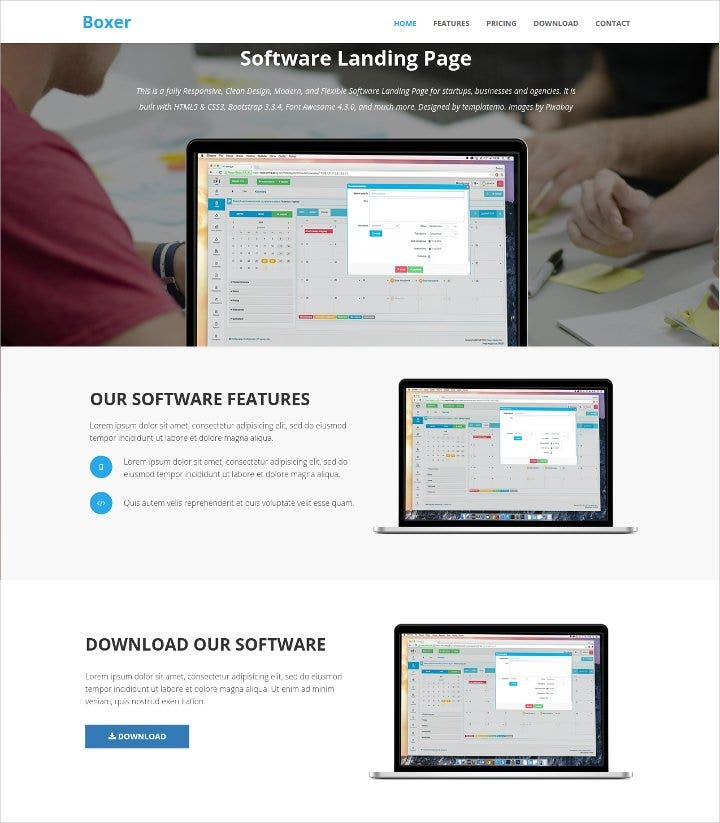 software-landing-page-template