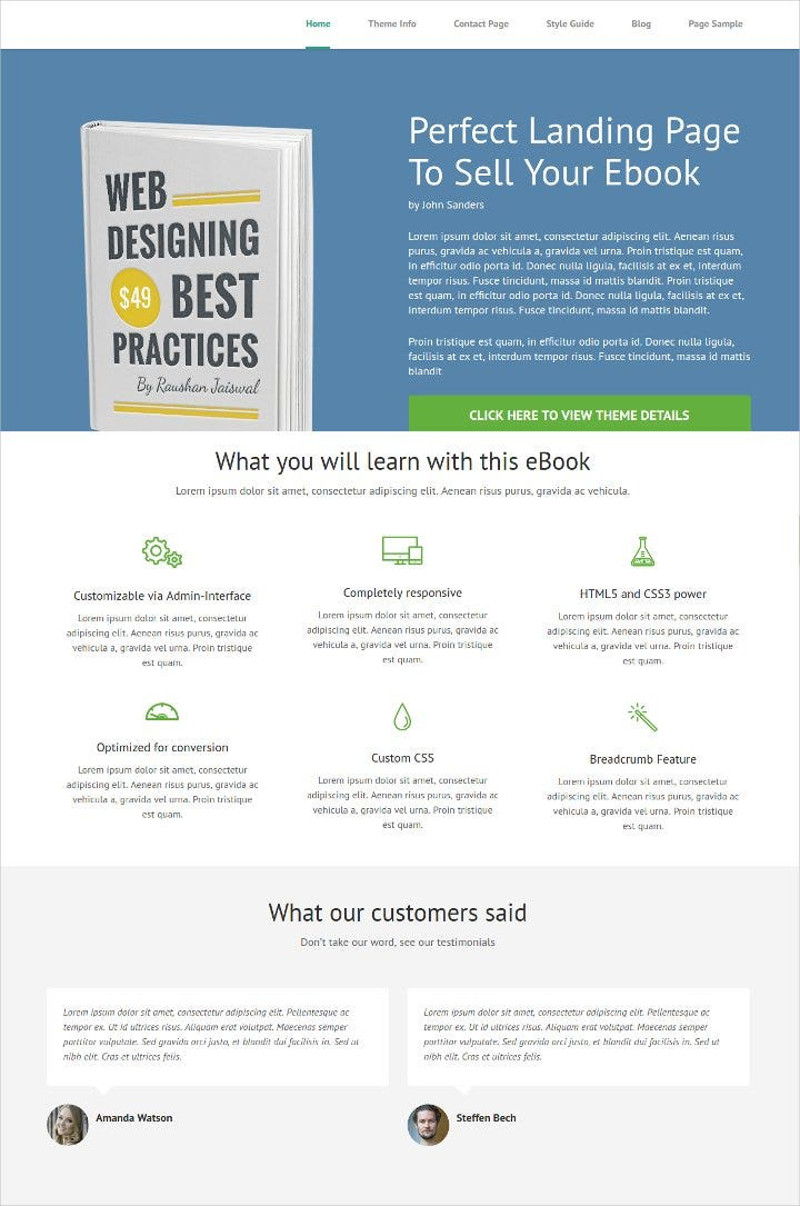 responsive-book-landing-page