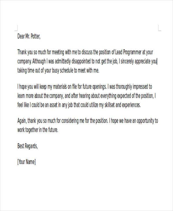 37 Rejection Letter Sample Free Amp Premium Templates