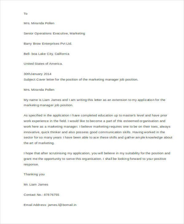 Sample Job Application Cover Letter from images.template.net