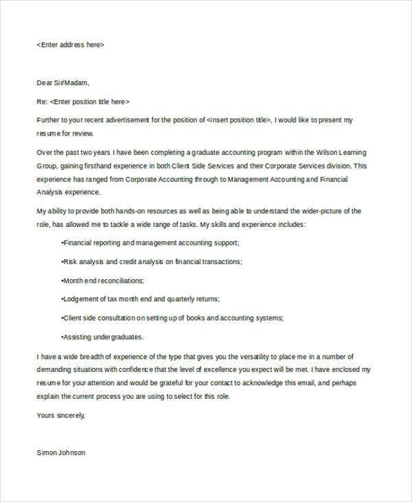 finance cover letter graduate Give your internship application the best chances - make sure your internship  cover letter is up to scratch with our guide and example.