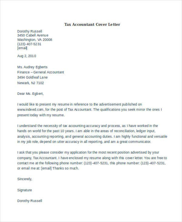 Tax-Accountant Sample Accountant Application Cover Letter Pdf on for science, tourist visa, unsolicited job,