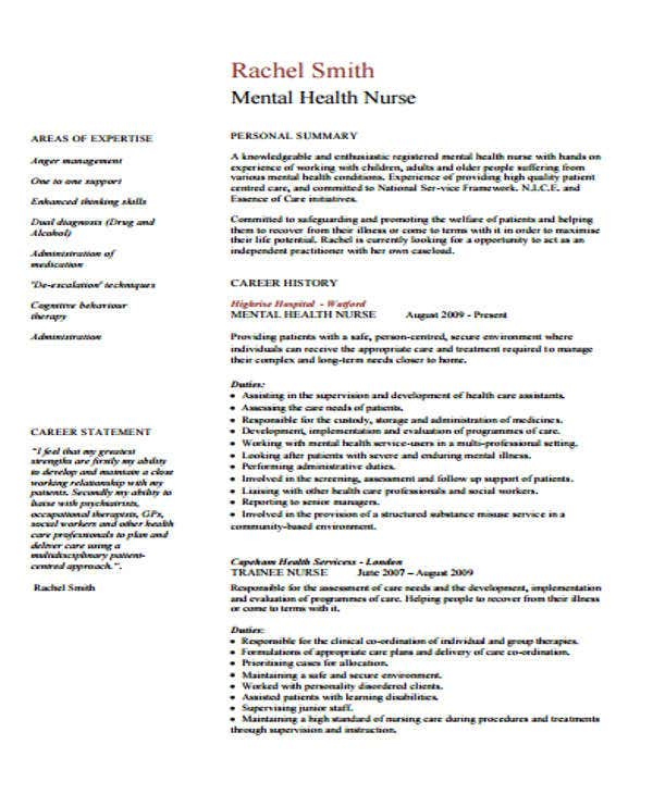 Mental-Health-Nursing Teacher Curriculum Vitae Examples on for professors, bangladeshi structure, academic position, for graduate students, college art instructor, new students, en francais, nurse educator,