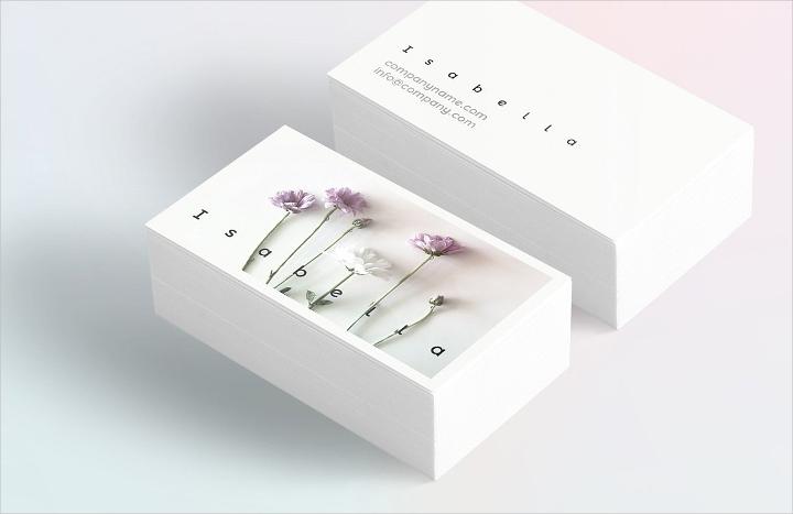 floral spring business card1