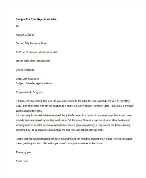 Simple Job Offer Letter  BesikEightyCo