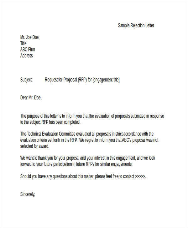 26 Rejection Letters In Doc Free Premium Templates