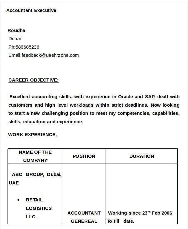 accountant executive