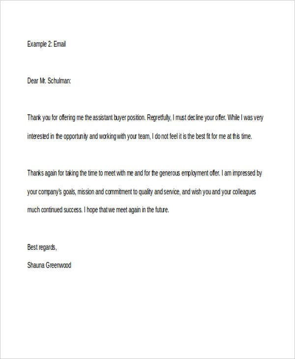 Rejection Letters In Doc  Free  Premium Templates