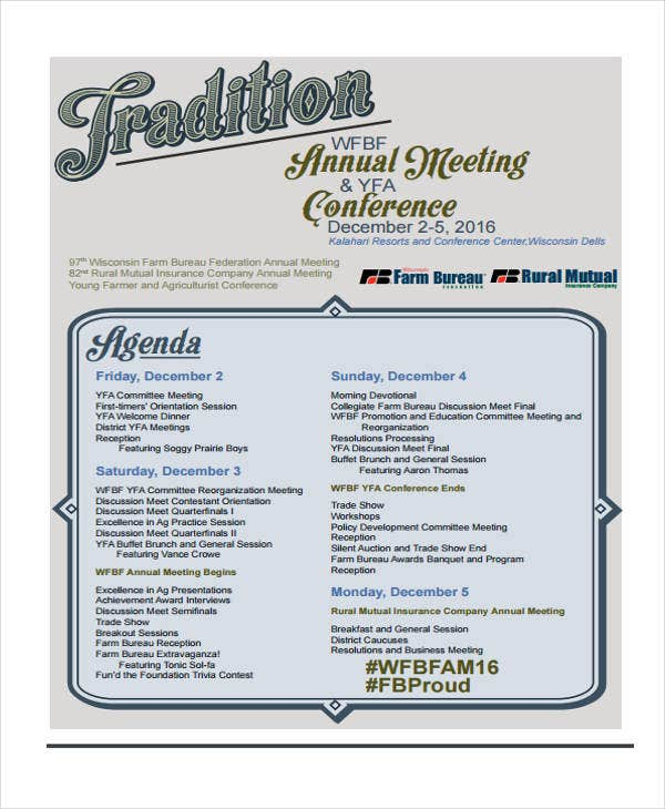 11+ Conference Agenda Format Templates - Free Sample, Example Format ...