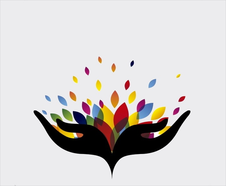 abstract-logo-with-colorful-leaves