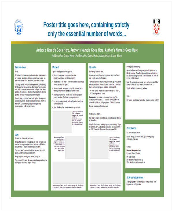 academic poster power point template