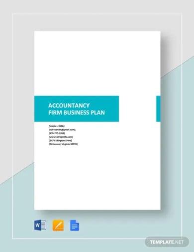 accountancy firm business plan template