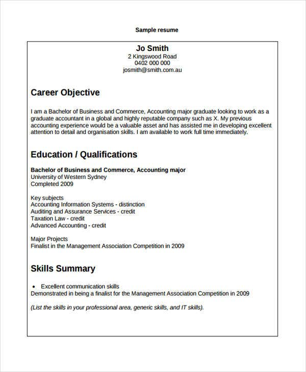 7+ Accounting Curriculum Vitae Templates - PDF, DOC