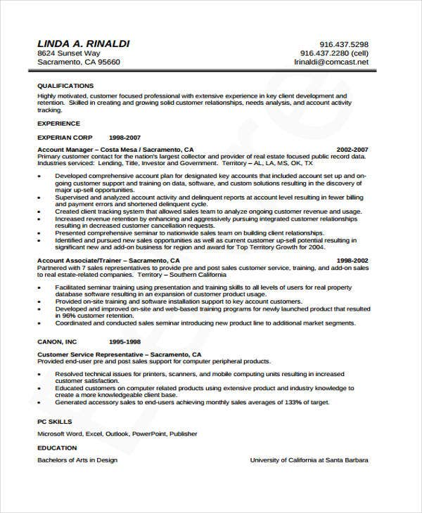 10 Accounting Curriculum Vitae Templates Pdf Doc Free