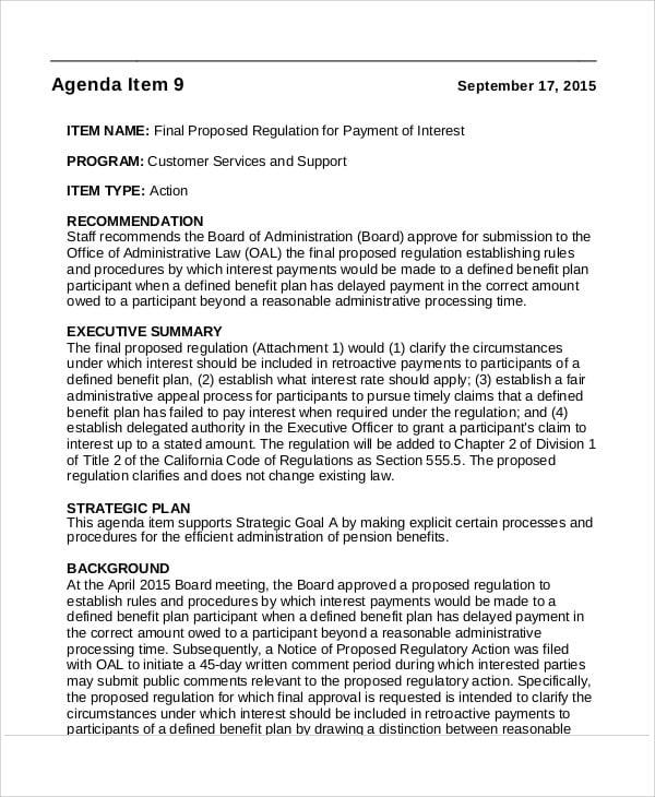 action agenda in pdf