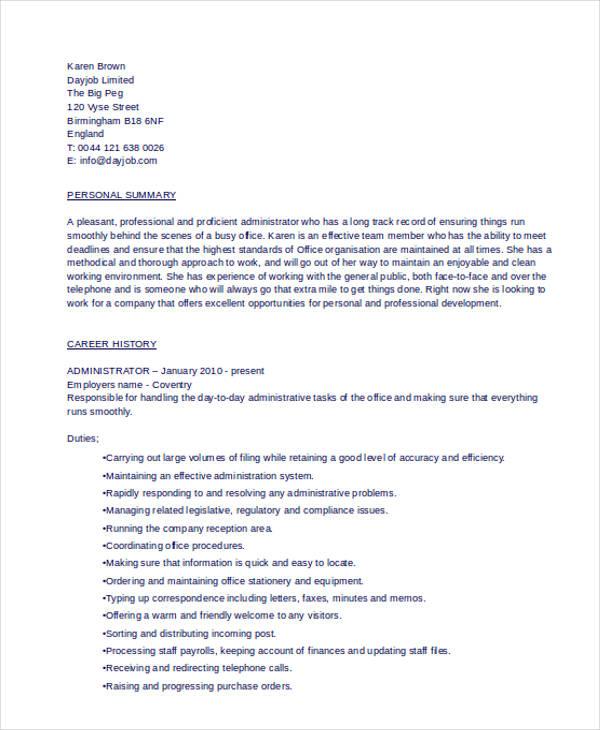 administration job2