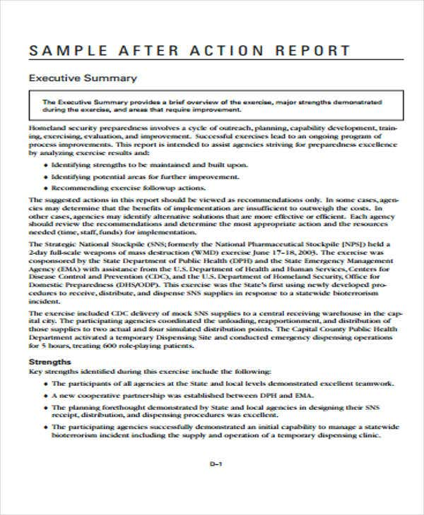 8+ Action Report Templates - Free Word, PDF Format Download | Free ...
