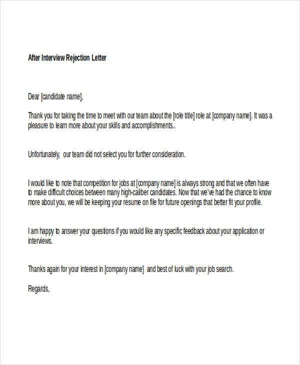Interview rejection letter idealstalist interview rejection letter altavistaventures Images