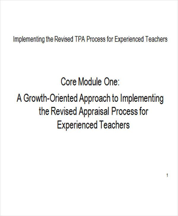 appraisal teacher