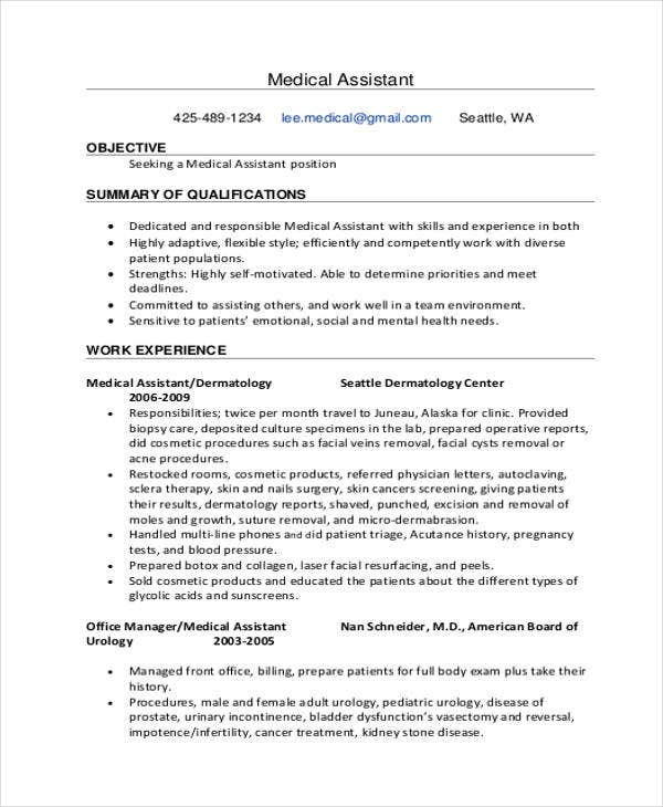 10+ Sample Medical Curriculum Vitae Templates